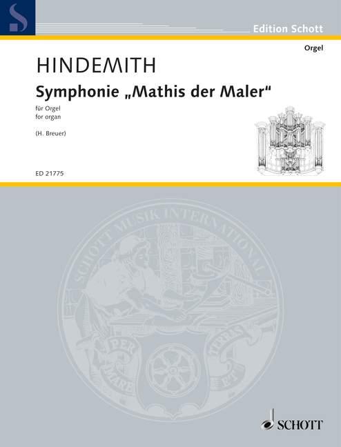 Symphonie Mathis der der der Maler Version for Organ by Heribert Breuer Hindemith orga  para barato